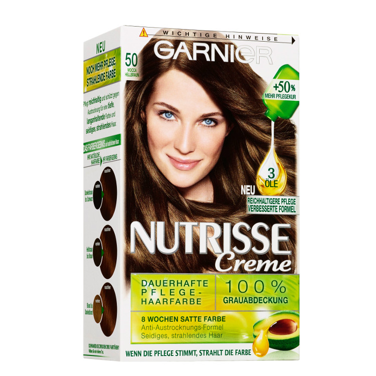 K 248 B Garnier Nutrisse Cream 50 Light Brown Mocca Her